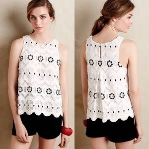 Anthropologie HD in Paris Walina Lace Top White XS